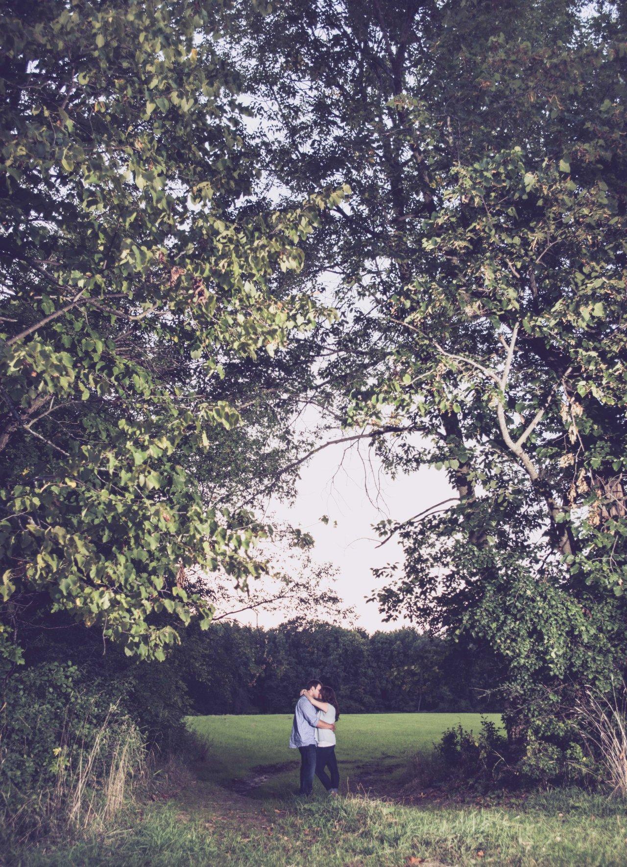 Landscape engagement shot